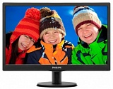 "Монитор LCD PHILIPS 18.5"" 193V5LSB2/10(62) Black TN (LED), 1366x768, 5ms, 250cd/m2, 1 000:1, (700:1), 90/65, D-Sub, VGA"